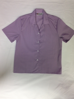 Short Sleeved Lilac Blouse