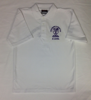 White A-Level PE Polo top