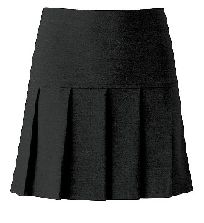 Charleston Black Pleated Skirt