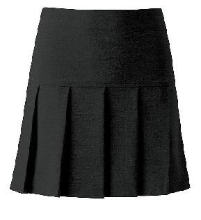Charleston Black Pleated Skirt