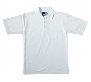 Unisex Plain White Polo