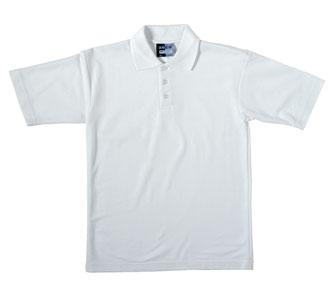 Unisex Plain White Polo