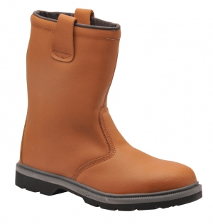 Steel Toe Cap Rigger Boot Tan (FW12)