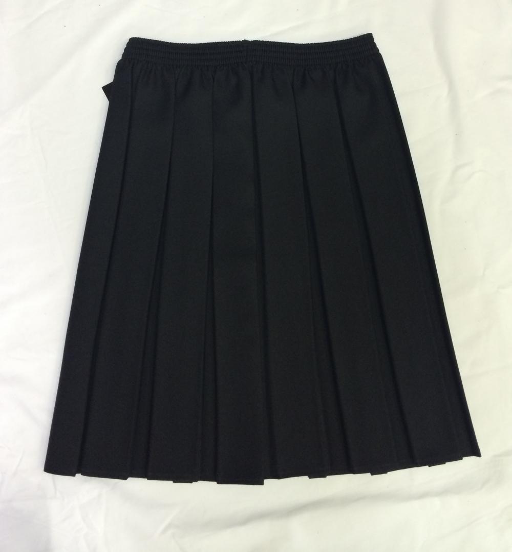 Girls Black Pleated Skirt